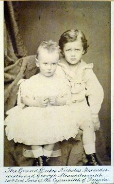 Nicholas with his brother George.