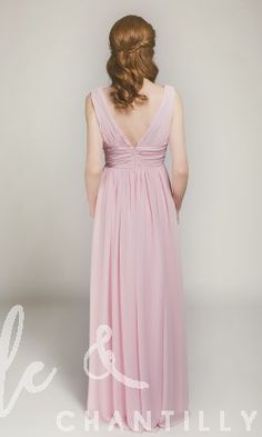 Gorgeous Bridesmaid Dress with V Back in Full Length TBQP360