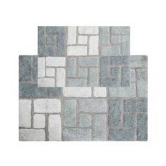 Chesapeake Berkeley Bricks Tufted 2-pc. Bath Rug Set, Grey