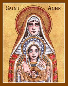 St. Anne icon by Theophilia on deviantART - St. Anne is teaching Mary the scriptures that prophesy Jesus.