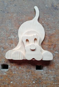 1207 BUCK cagnolino in legno di abete massiccio, realizzato da LegnoAnimato