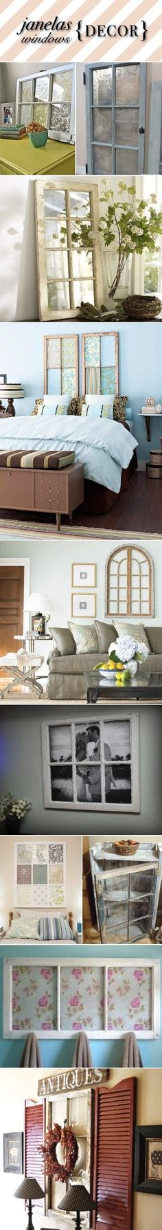 Repurpose Ideas with old windows! by gayle
