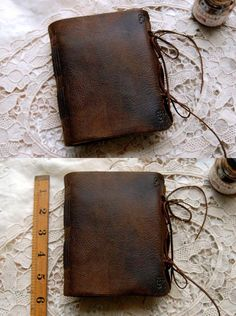 Meditations Rustic Brown Leather Journal by bibliographica