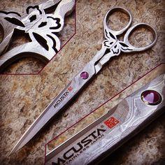 Forbice giapponese in acciaio clad steel by Mcusta  coltelli, coltello, knives, messer, steel, kitchen knives, coltello cucina, forbice