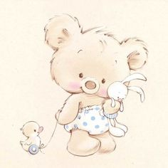 Cute illustrations - Marina Fedotova - MF-01-blue