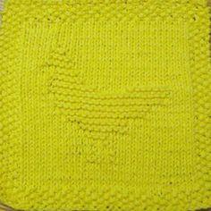Chicken Knit Dishcloth Pattern