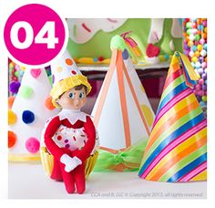 Birthday Party Hats Birthday Hats: DIY Printable Birthday Hat Templates from The Elf On The Shelf® Diy Birthday Party Hats, Birthday Elf, Diy Birthday Invitations, Birthday Ideas, Elf On The Shelf, The Elf, Birthday Activities, Christmas Activities, Christmas Elf