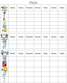 Family Chore Chart Maker Free  Family Schedule Template