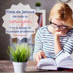 Fíate de Jehová de todo tu CORAZÓN, y no te apoyes en tu propia prudencia. Proverbios 3:5 #JovenesADG #AmaADiosGrandemente #LGG #Devocional #Estudiobiblicoenlinea #Estudiobiblicoparamujeres #Dios #ComunidadADG