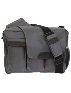 Diaper Dude Messenger Bag In Grey - Masculine diaper bag
