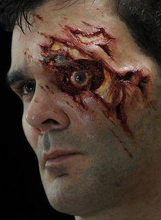 #NimbaCreations Exposed Eye FX Makeup Prosthetic - 28.50 SFX prosthetics and accessories