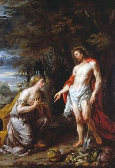 Noli Me Tangere jan lang Noli Me Tangere, Images Of Mary, Christ Is Risen, Story People, Jesus Resurrection, Old And New Testament, Peter Paul Rubens, Religious Images, Catholic Art