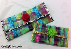 Easy Fabric Scrap and Duct Tape Clutch | CraftyChica.com | Official site of award-winnning artist and novelist, Kathy Cano-Murillo.