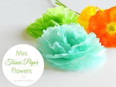 Mini Tissue Paper Flowers Tutorial