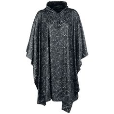 "Full Volume by EMP Poncho ""Allover Skulls"" negro-blanco • EMP"