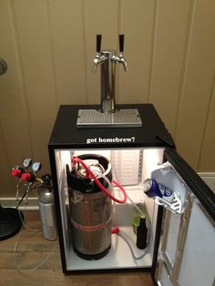 So I decided to build a kegerator after seeing how easy it was to get beer.So I decided to build a kegerator after seeing how easy it was to get beer. Beer Keg, Beer Taps, Keg Fridge, Brewing Equipment, Home Brewing Beer, Diy Bar, Beer Recipes, Tap Room, How To Make Beer