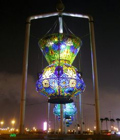 Beautiful Hanging Lamp in Jeddah (picture not mine) Travel To Saudi Arabia, Beautiful World, Beautiful Places, House Of Saud, Jeddah Saudi Arabia, Cartier Tank Solo, Riyadh, Middle East, Sculptures