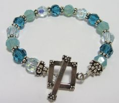 Handmade Genuine Crystal and Bali Silver Beads by Bellissima Jewelers on Etsy