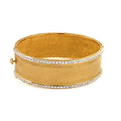 18 Karat Yellow Gold Diamond Bangle Bracelet by Mrs. Jones | Mrs. Jones & Company