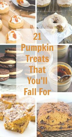 Community Post: 21 Pumpkin Treats That You'll Fall For - everything on this list sounds amazing! Fall Desserts, Just Desserts, Delicious Desserts, Dessert Recipes, Pumpkin Recipes, Fall Recipes, Holiday Recipes, Pumpkin Dessert, Pumpkin Cheesecake