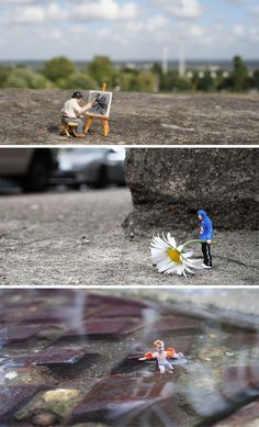 Miniature City Scenes: 21 of Slinkachu's Tiny Art Installations
