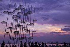 Rain Umbrellas by Vag Ant on Rain Umbrella, Before Sunset, Thessaloniki, Umbrellas, Rainy Days, Ants, Summer 2015, In This Moment, Explore