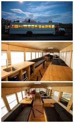 School bus repurposed into a mobile home #Bus, #MobileHome, #Reused, #School