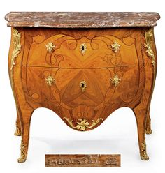 date unspecified A LOUIS XV ORMOLU-MOUNTED, KINGWOOD, TULIPWOOD AND AMARANTH COMMODE  BY PIERRE ROUSSEL, MID-18TH CENTURY, REMOUNTED  Price realised  GBP 23,750