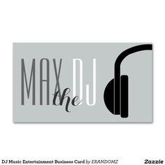 Rock skull dj music business card dj business cards pinterest dj music entertainment business card reheart Image collections