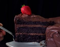 This Vegan Chocolate Cake with Whipped Ganache is as decadent as it sounds!