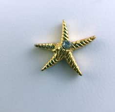 Starfish Gold Metal with CZ Floating Charm for Glass Lockets 234 by foxriverlocketshoppe. Explore more products on http://foxriverlocketshoppe.etsy.com
