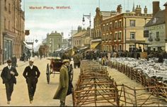 Watford, Vintage London, Street View, England, Photographs, Photos, Places, Painting, Pictures