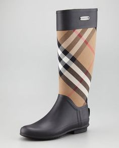 ShopStyle.com: Burberry Mixed Media Rain Boot, Housecheck $295.00