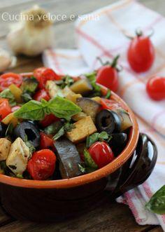 tofu alla mediterranea Raw Vegan, Vegan Keto, Vegan Food, Healthy Food, Vegan Recipes, Cooking Recipes, Everyday Food, Low Carb Diet, Vegan Dishes
