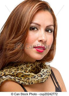 Stock Photo - Brunette Female Wearing Scarf - stock image, images, royalty free photo, stock photos, stock photograph, stock photographs, picture, pictures, graphic, graphics