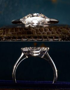 1920s Old Cut Marquise Shaped 1.28ct Diamond (F/G SI1), modern mounting, $9650