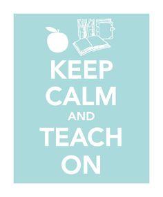 #calm #teach on