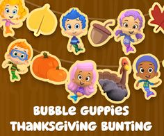 Get festive with a printable Gobble Gobble Guppies Thanksgiving Bunting that your kids will love.