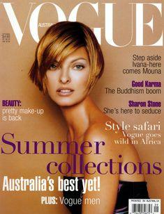 LINDA EVANGELISTA   VOGUE AUSTRALIA SEPTEMBER, 1996 COVER 6