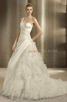 A-vonalú Organza Természetes Menyasszonyi ruhák 2014