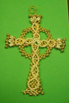 Celtic Cross Chrismons Ornament - Home Size