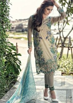 Buy MBL1605 Maria B Lawn 2016 PRE ORDER, Latest Asian, Pakistani and Indian Fashion