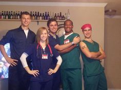 Not even necessarily the cast of Scrubs, but just dressing as a doc or nurse would be awesome and comfy.
