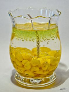 yellow gel candle