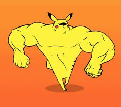 New trendy GIF/ Giphy. walking pikachu butt muscles strong muscle tough kicking your ripped buff. Let like/ repin/ follow @cutephonecases