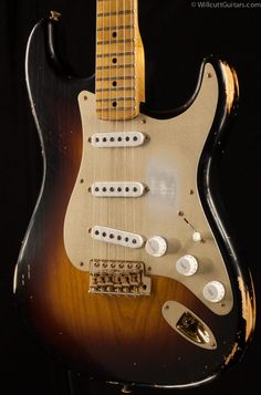Fender Custom Shop 1954 Heavy Relic Stratocaster Golden 50's Limited Two-Tone Sunburst (301)