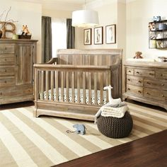 Bertini Pembrooke 4 In 1 Convertible Crib Natural Rustic - Property Shutters Nursery Furniture Collections, Nursery Furniture Sets, Baby Furniture, Wood Furniture, Antique Furniture, Baby Boy Rooms, Baby Boy Nurseries, Baby Cribs, Babies Nursery