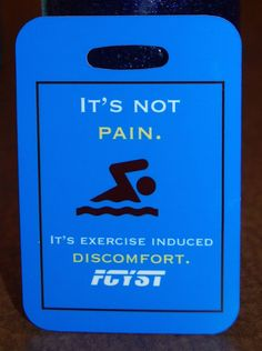 It's Not Pain It's exercise induced discomfort by FlipTurnTags, $5.95