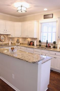 Supreme Kitchen Remodeling Choosing Your New Kitchen Countertops Ideas. Mind Blowing Kitchen Remodeling Choosing Your New Kitchen Countertops Ideas. Kitchen Cabinets Decor, Kitchen Redo, Kitchen Countertops, New Kitchen, Kitchen Ideas, Kitchen White, Kitchen Backsplash, Backsplash Ideas, Granite Kitchen