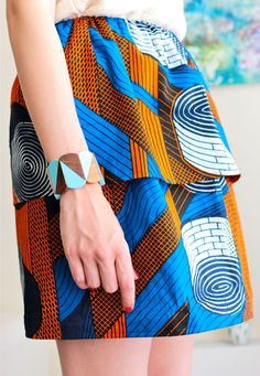 Skirt something – ………. Ethnic Fashion, African Fashion, Womens Fashion, Mode Lookbook, Ankara Clothing, Skirt Tutorial, Couture Sewing, Diy For Girls, African Fabric